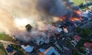 У Польщі сталася пожежа, яка охопила понад 40 будівель