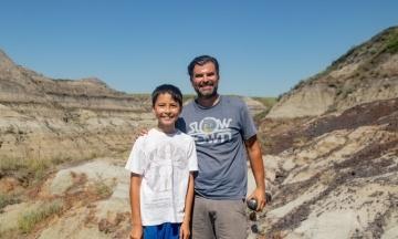 В Канаде 12-летний парень нашел останки динозавра, который жил 69 миллионов лет тому назад