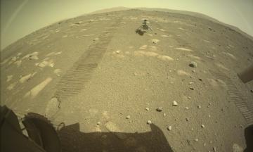 Марсоход Perseverance сфотографировал нечто похожее на радугу в атмосфере Красной планеты. Ученые нашли объяснение этого феномена