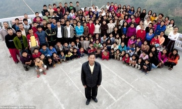 В Індії помер голова (імовірно) найбільшої родини у світі: у нього 38 дружин і 89 дітей