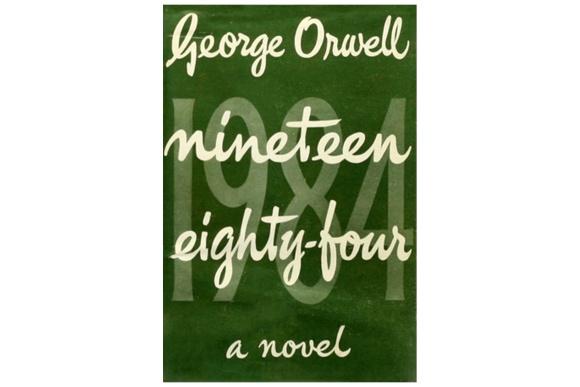 Перша обкладинка роману «1984» Джорджа Орвелла 1949 року.