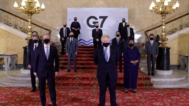 Міністри країн G7 закликали Росію відвести війська від кордону з Україною та припинити вогонь на Донбасі