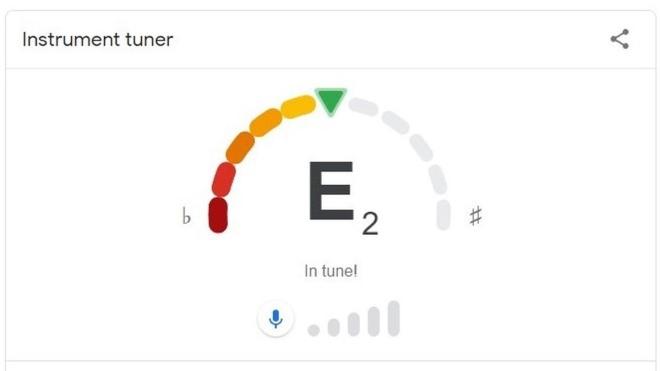 Google добавил новую функцию — настройка гитарных струн