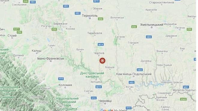 В Тернопольской области произошло землетрясение