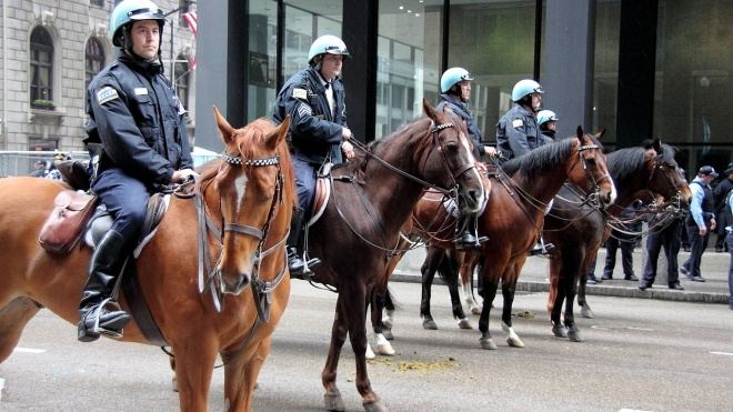 В США конная полиция задержала афроамериканца и на веревке провела его по городу — он требует миллион компенсации