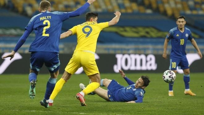 Отбор на ЧМ-2022: Украина упустила победу над Казахстаном