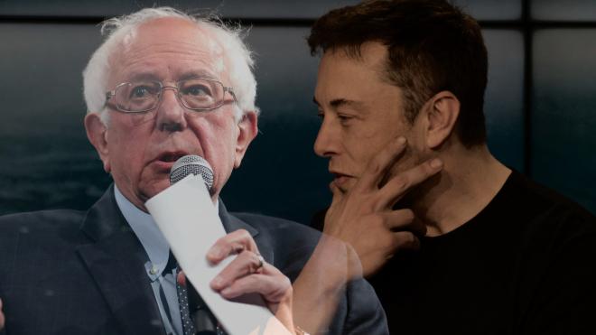 Сенатор Берні Сандерс засудив винахідника Ілона Маска за «аморально» високі прибутки. Той відповів, що допомагає людству