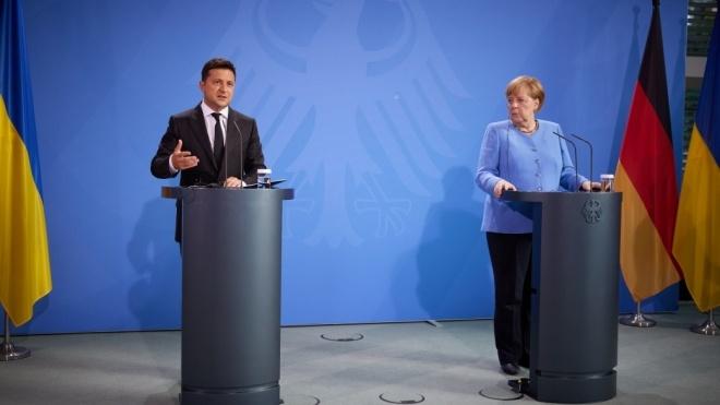 Зеленский во время встречи с Меркель настаивал на гарантиях газоснабжения оккупированного Донбасса после запуска «Северного потока — 2»