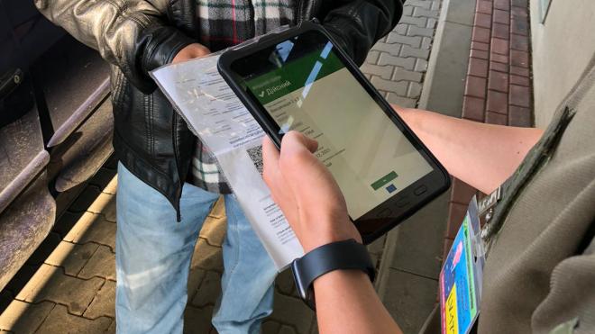 Українські прикордонники отримали спеціальні планшети для перевірки COVID-сертифікатів