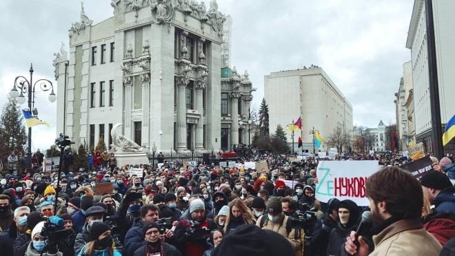 «Справедливость Стерненко»: участники акции под Офисом президента выдвинули свои требования