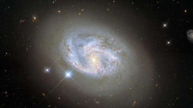 Hubble впервые сделал снимок спиральной галактики в окружении сверхновых