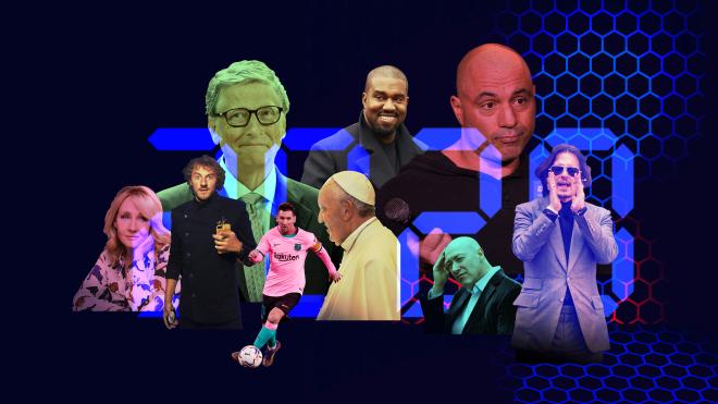 Чотирнадцять людей, за якими було цікаво спостерігати: артисти, письменники, блогери, журналісти, королівська пара і один священник. Підсумки-2020 без політиків