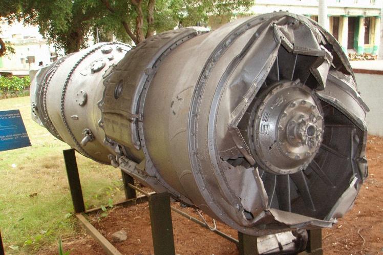 Двигатель американского самолета-разведчика Lockheed U-2, сбитого над Кубой 27 октября 1962 года в Музее Революции в Гаване.