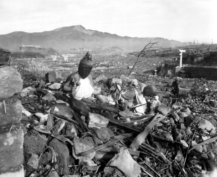 Зруйнований ядерним вибухом храм у Нагасакі, 24 вересня 1945 року.
