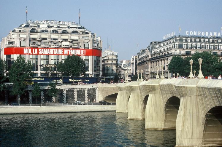 Мост Пон-Неф в Париже, 1985 год.