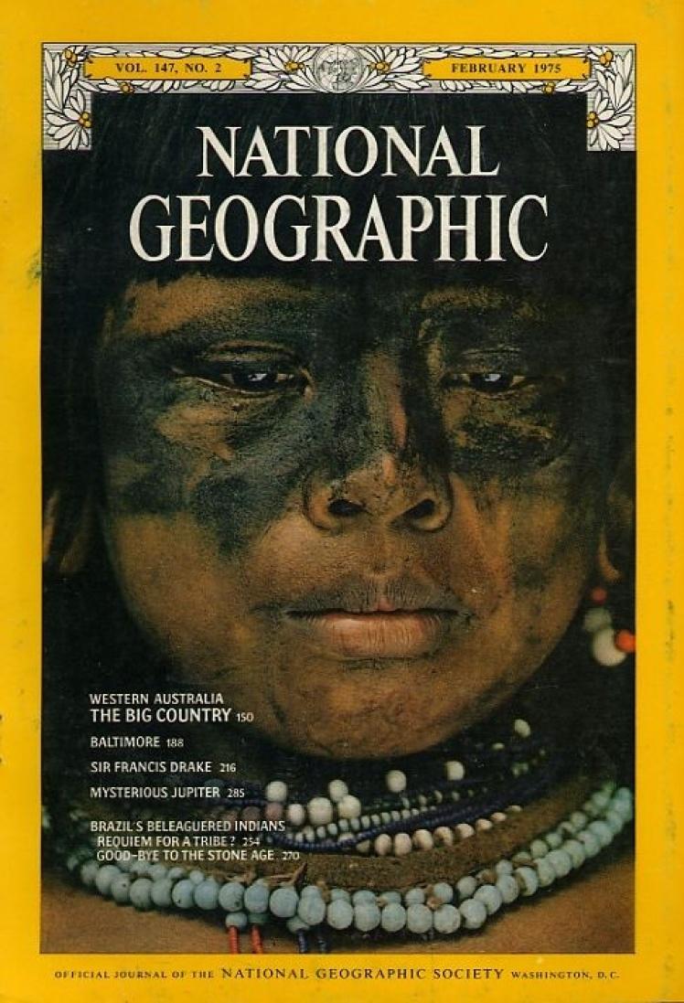 Лютий 1975 року. На фото бойова розкраска індіанців Амазонії.