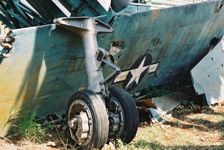 Уламки американського літака-розвідника Lockheed U-2, збитого над Кубою 27 жовтня 1962 року.
