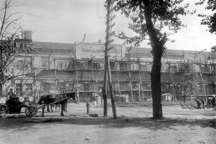 Работы по благоустройству Енакиевского металлургического завода, 1934 год.