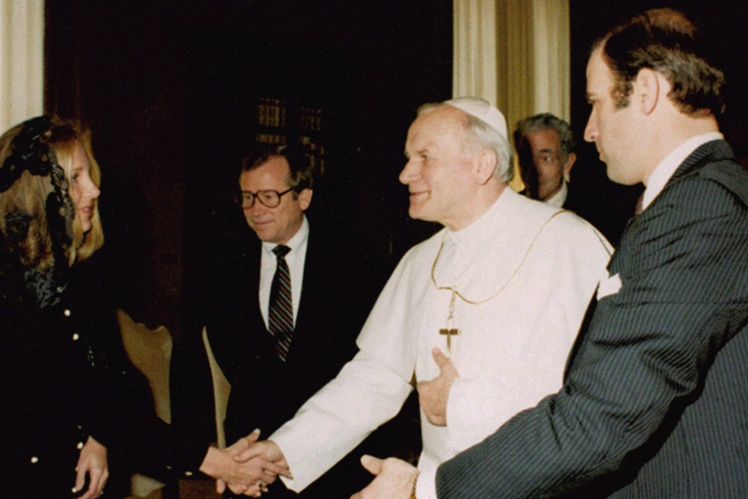 Байден и Папа Иоанн Павел II.