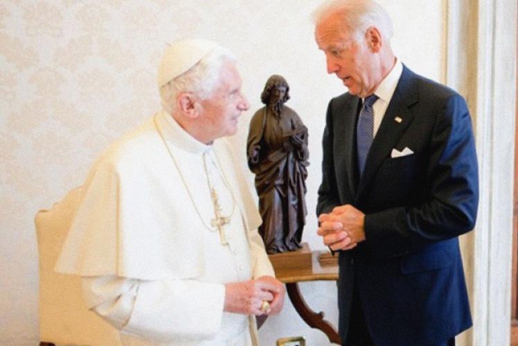 Байден и Папа Бенедикт XVI.