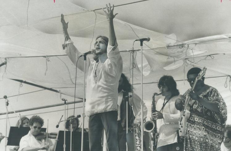 Джефф Фенхольт в образі Ісуса під час концертного туру на підтримку рок-опери «Ісус Христос — суперзірка», серпень 1971 року.