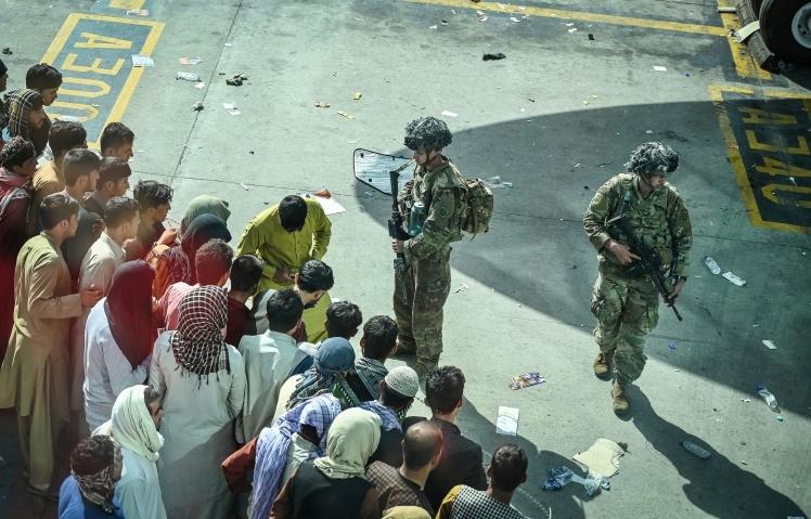 Американські солдати в аеропорту Кабулу, 16 серпня 2021 року.