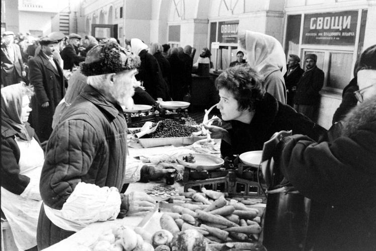 Рынок в Москве, 1963 год.