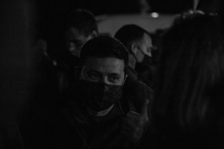 Володимир Зеленський під час відкриття КПВВ «Щастя» в Луганській області, листопад 2020 року.
