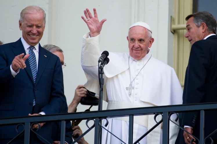 С Папой Франциском.
