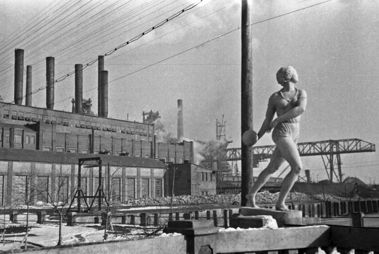 Вигляд Маріупольського металургійного заводу «Азовсталь», 1930-ті роки.