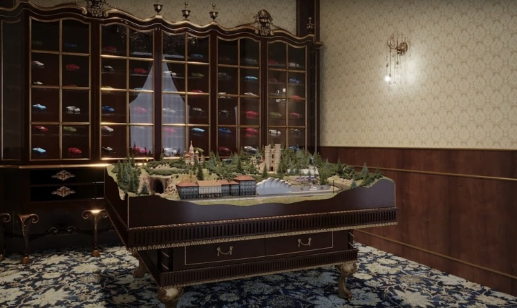 Кімната для іграшкових машинок.