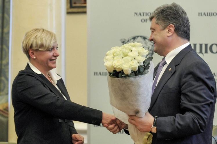 Валерія Гонтарева та Петро Порошенко.