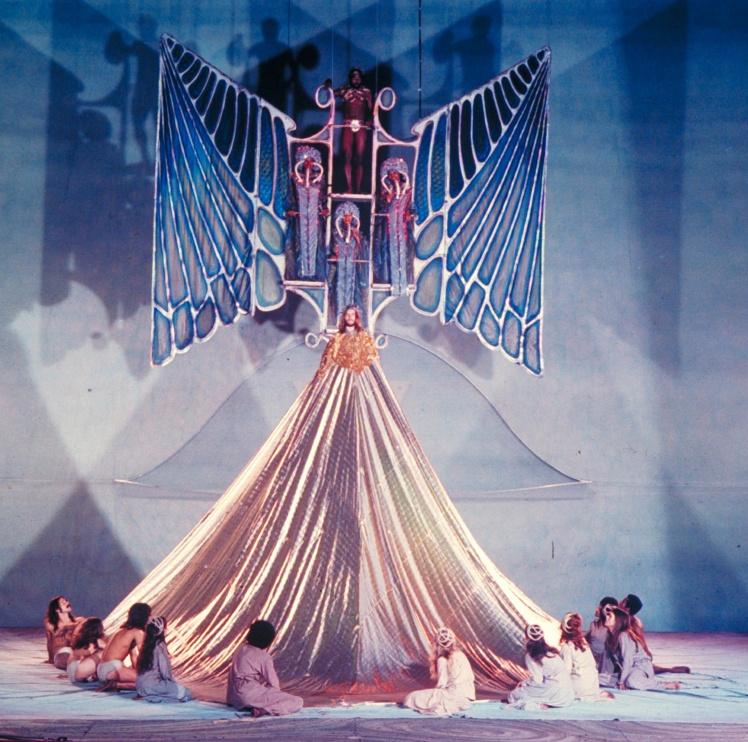 Сцена з бродвейського мюзиклу «Ісус Христос — суперзірка», 12 жовтня 1971 року.