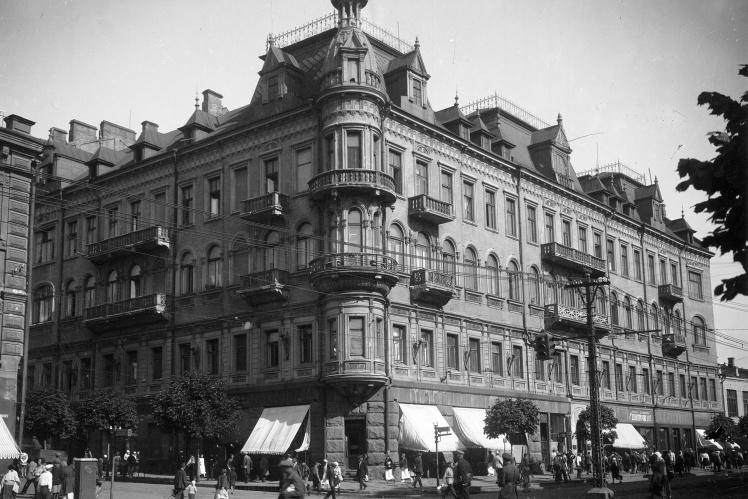 Фасад «рыцарского дома» в 1935 году.