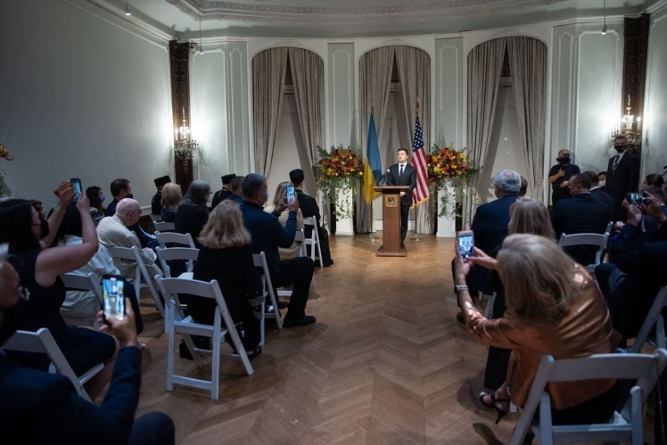 Встреча Владимира Зеленского с общиной украинцев в США.