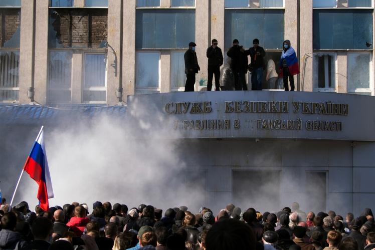 Захоплення управління СБУ в Луганській області. Луганськ, 6 квітня 2014 року.