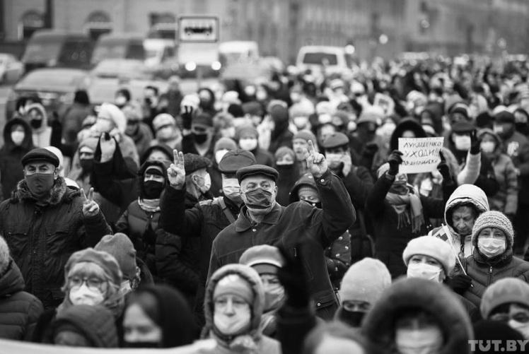 Акции протеста в Беларуси после президентских выборов.