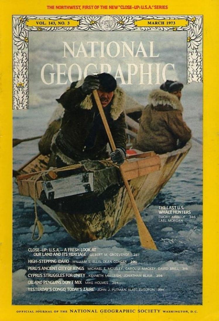 Березень 1971 року. На фото останні китобої США, американський конгрес заборонив цей промисел у 1972 році.