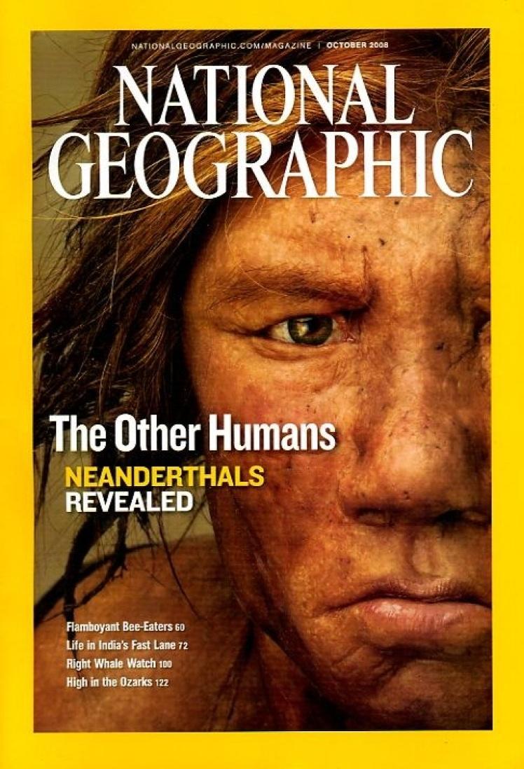 Жовтень 2008 року. На фото реконструкція обличчя неандертальської жінки, заснована на фрагментах прадавньої ДНК.