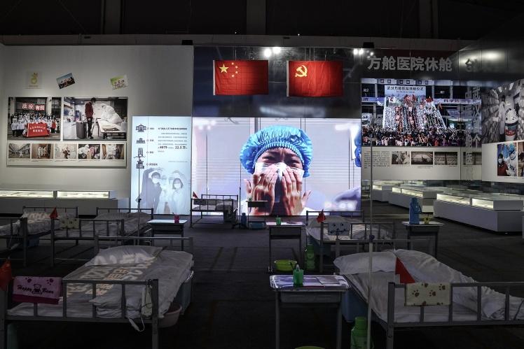 Виставка в Ухані, присвячена боротьбі з коронавірусом.