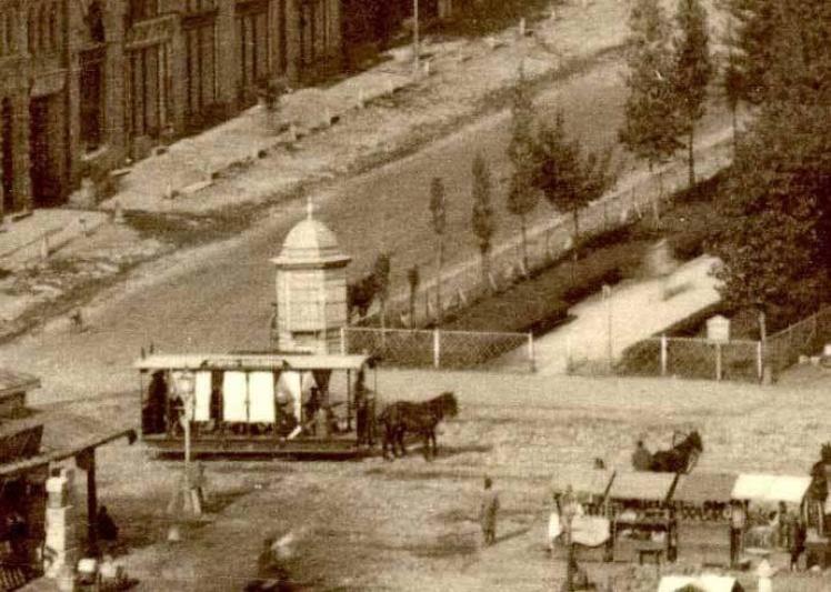 Конка, перший маршрут із Хрещатика до теперішньої Либідської площі