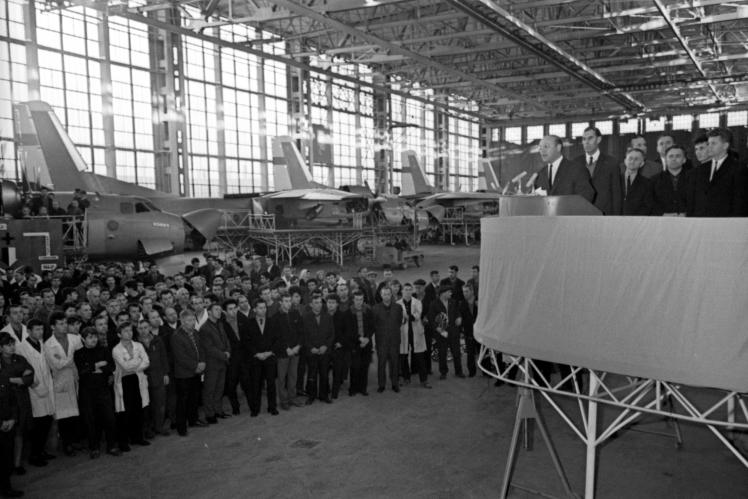 Збори на Київському авіаційному заводі, жовтень 1967 року.