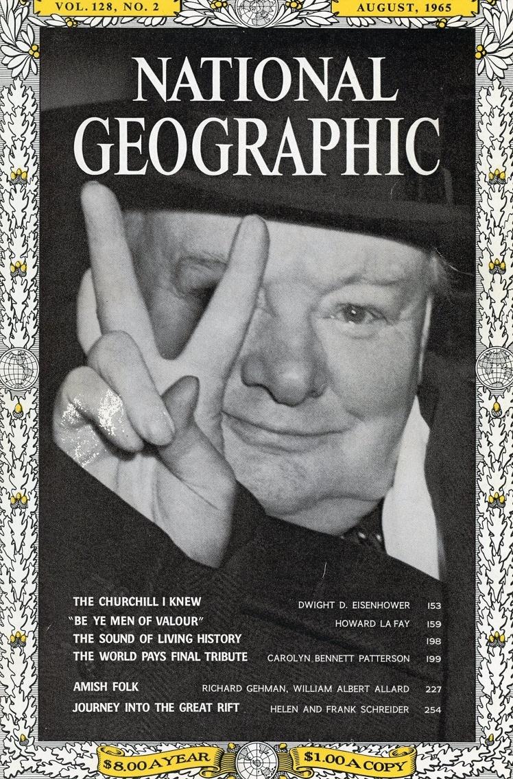 Серпень 1965 року. Весь номер присвячений британському політику Вінстону Черчиллю, який помер у 1965 році.