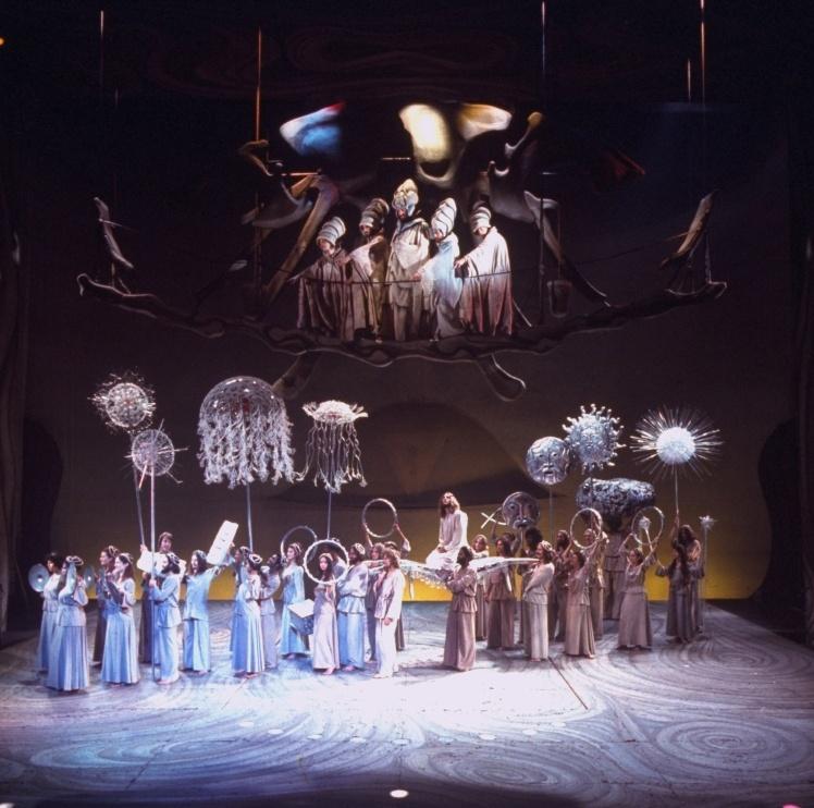 Сцена з бродвейського мюзиклу «Ісус Христос — суперзірка», що зображала вхід Ісуса в Єрусалим, 12 жовтня 1971 року.