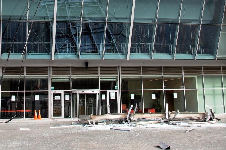 Улітку та восени 2014 року «Донбас Арена» кілька разів потрапляла під обстріл — були пошкоджені фасад арени, її комунікації, обладнання.