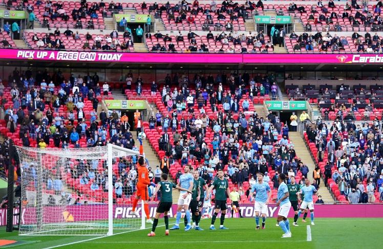 Фінальний матч Кубка Футбольної ліги між «Манчестер Сіті» та «Тоттенгем Готспур», 21 квітня 2021 року, Лондон, Англія.