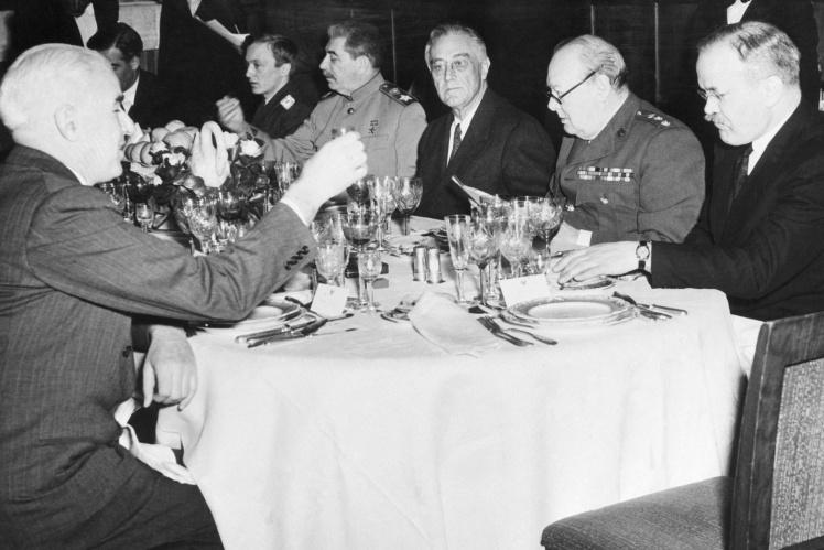 Банкет во время Ялтинской конференции, февраль 1945 года.