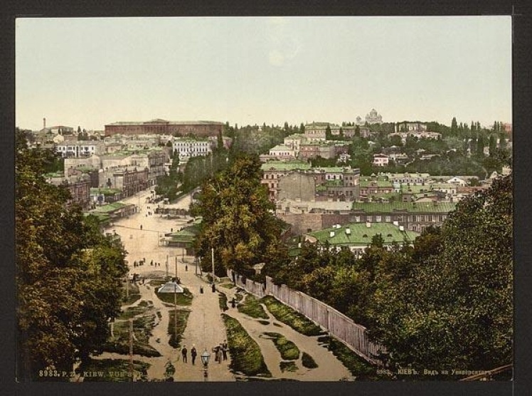 Вид на університет із Бессарабської площі