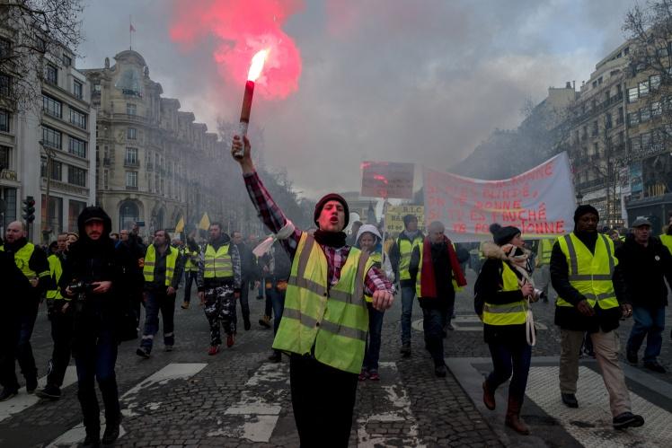 Демонстрація «жовтих жилетів» у Парижі, 9 лютого 2019 року.