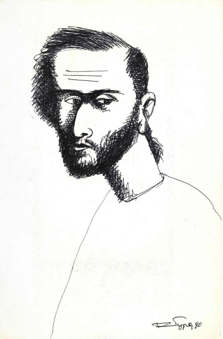 Александр Ройтбурд, Автопортрет, 1990.